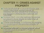 chapter 11 crimes against property