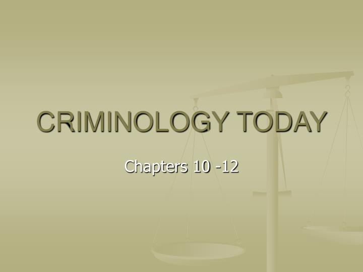 criminology today n.