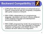 backward compatibility 1