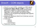 directx com objects