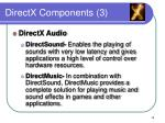 directx components 3