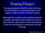 training changes30