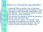 what acts should be punishable4