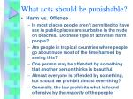what acts should be punishable7