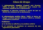 abuso de drogas