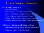 future research directions23