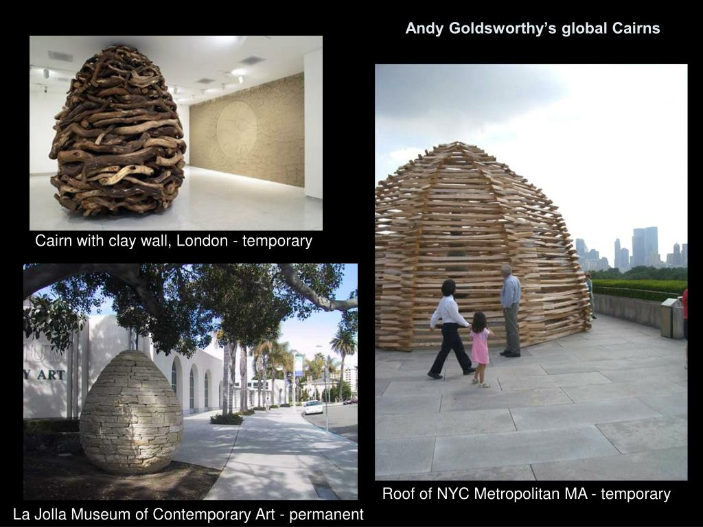 Andy Goldsworthy's global Cairns
