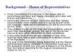 background house of representatives