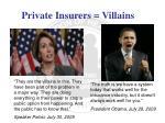 private insurers villains