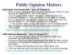 public opinion matters