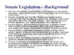 senate legislation background