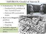 assyrian citadel of sargon ii