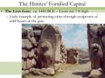 the hittites fortified capital