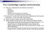 the cambridge capital controversies