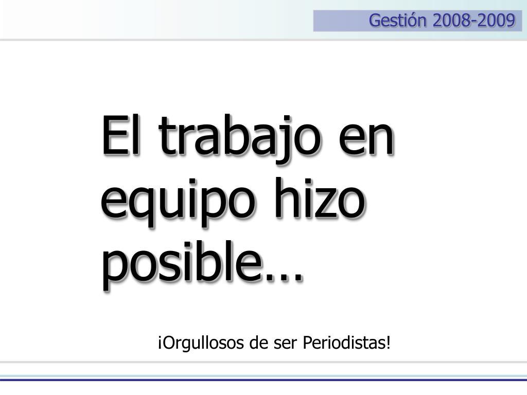 Gestión 2008-2009