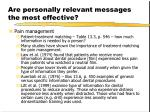 are personally relevant messages the most effective8