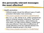 are personally relevant messages the most effective9