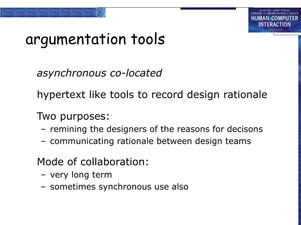 argumentation tools