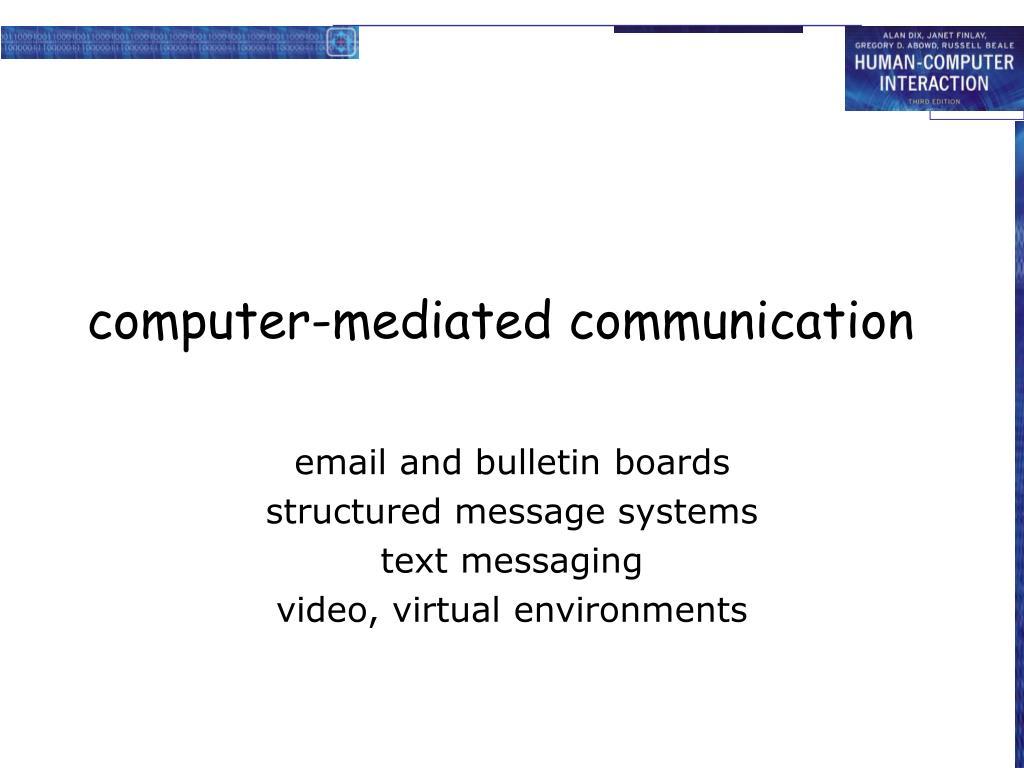computer-mediated communication