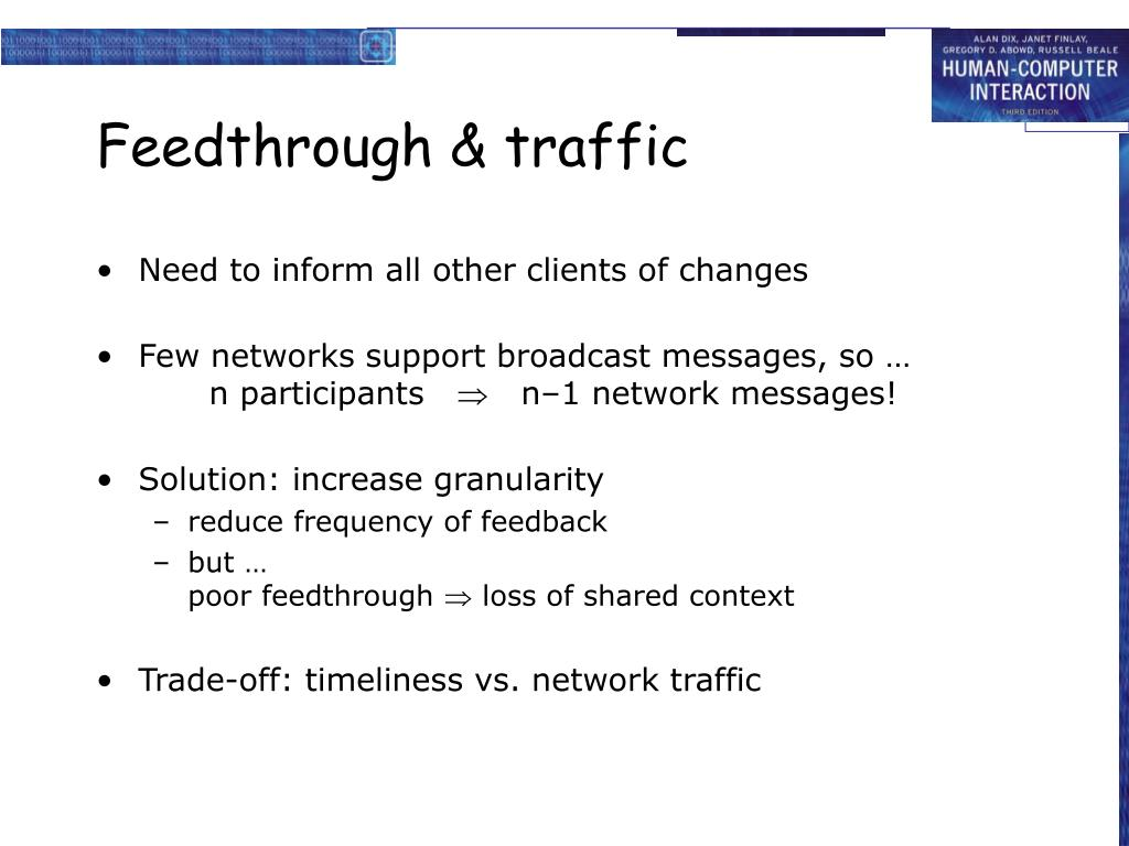 Feedthrough & traffic