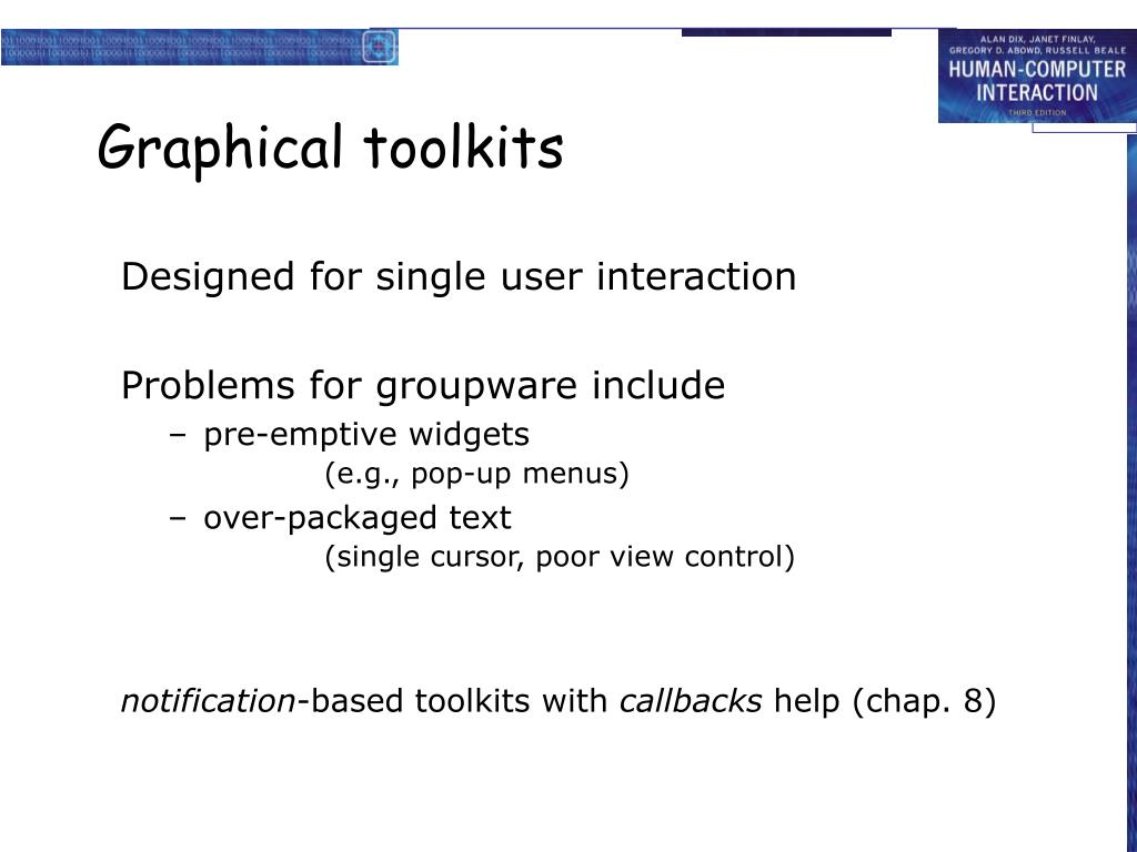 Graphical toolkits