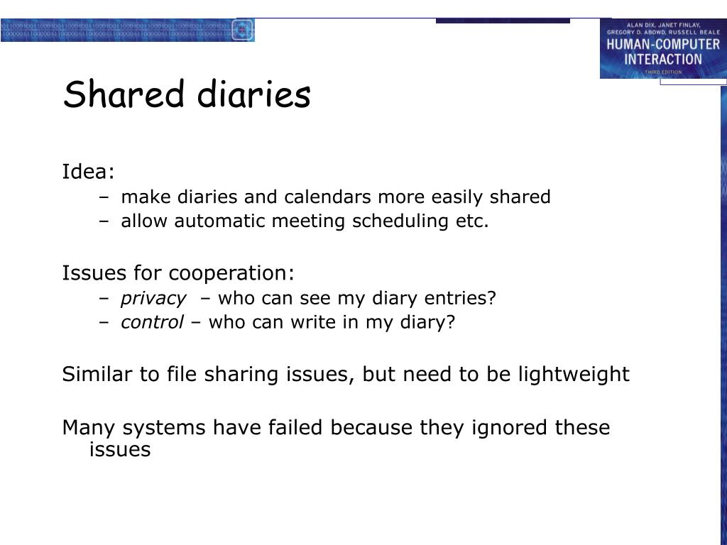 Shared diaries