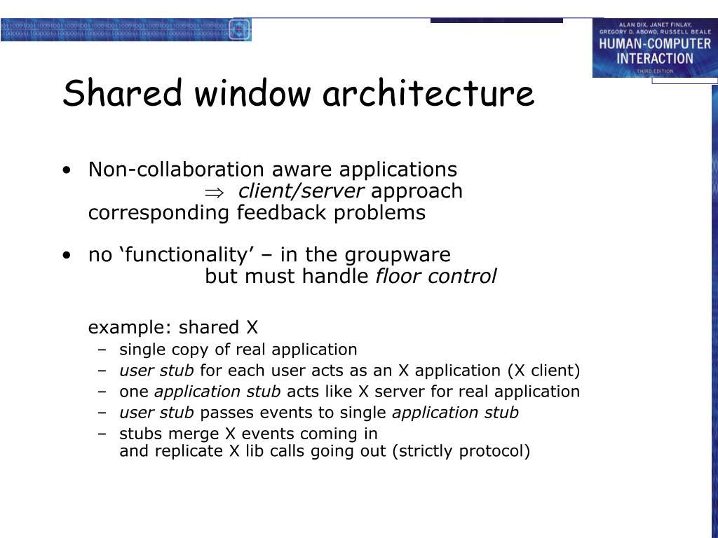 Shared window architecture