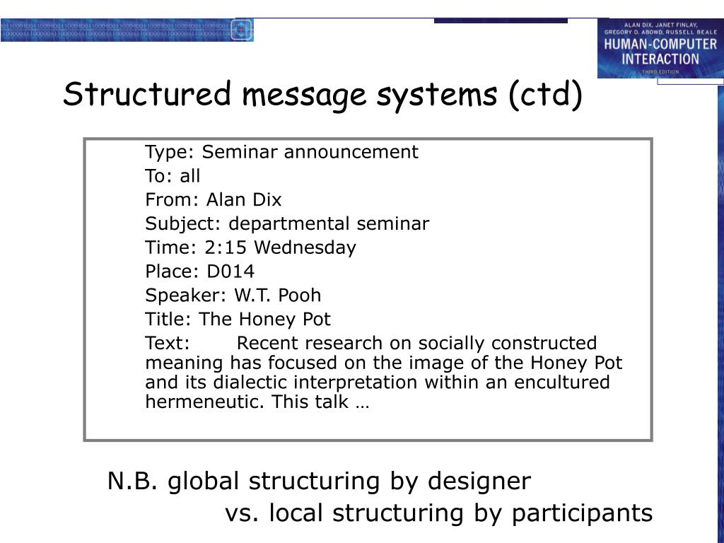 N.B. global structuring by designer