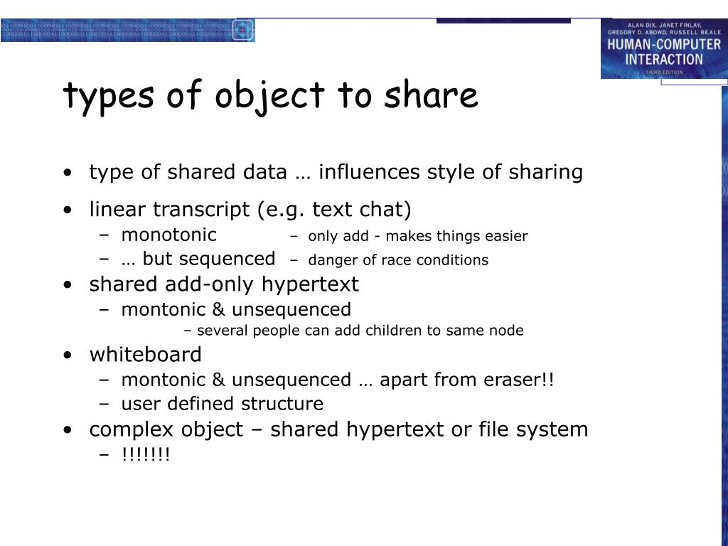 types of object to share