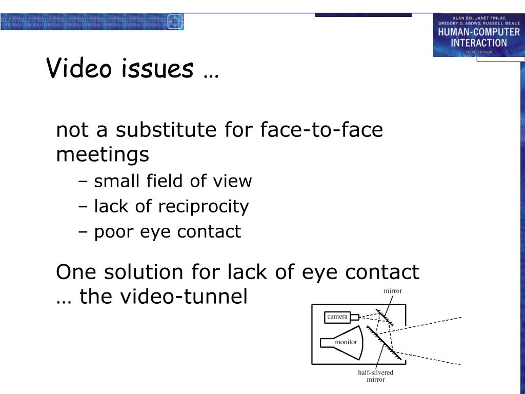 Video issues …