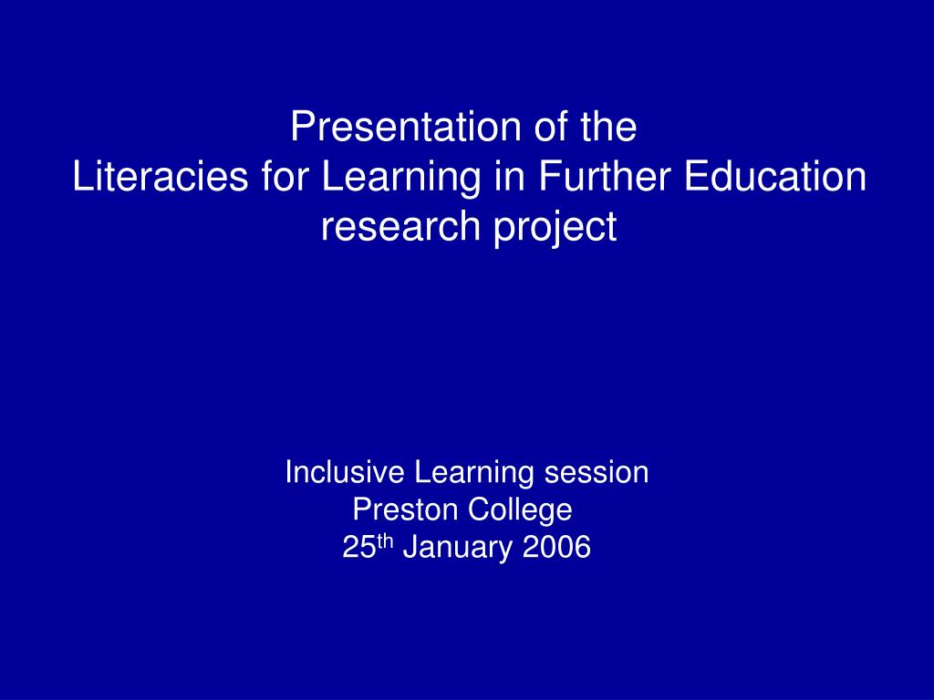 Presentation of the