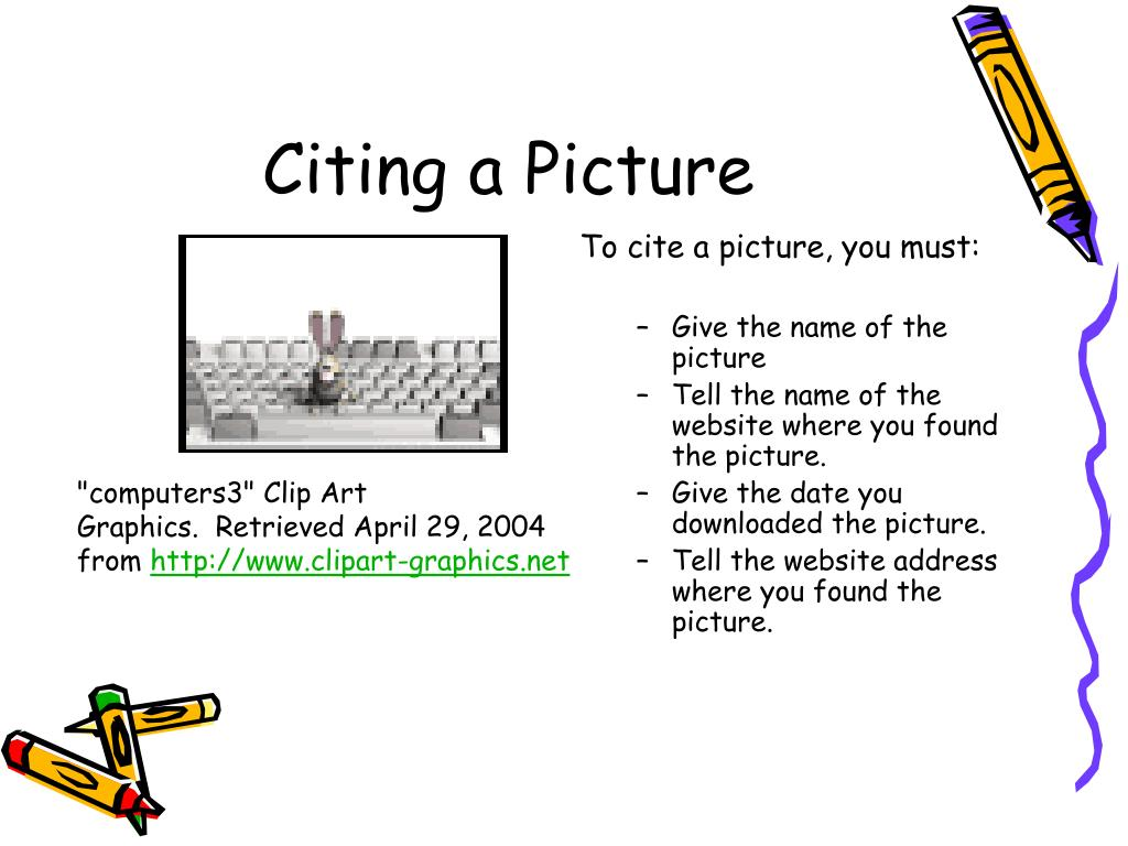 Citing a Picture