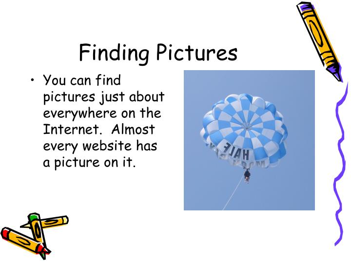 Finding pictures