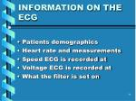 information on the ecg
