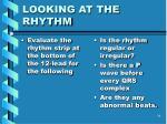 looking at the rhythm