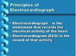 principles of electrocardiograph