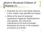 kuhn s structural criterion of science 1