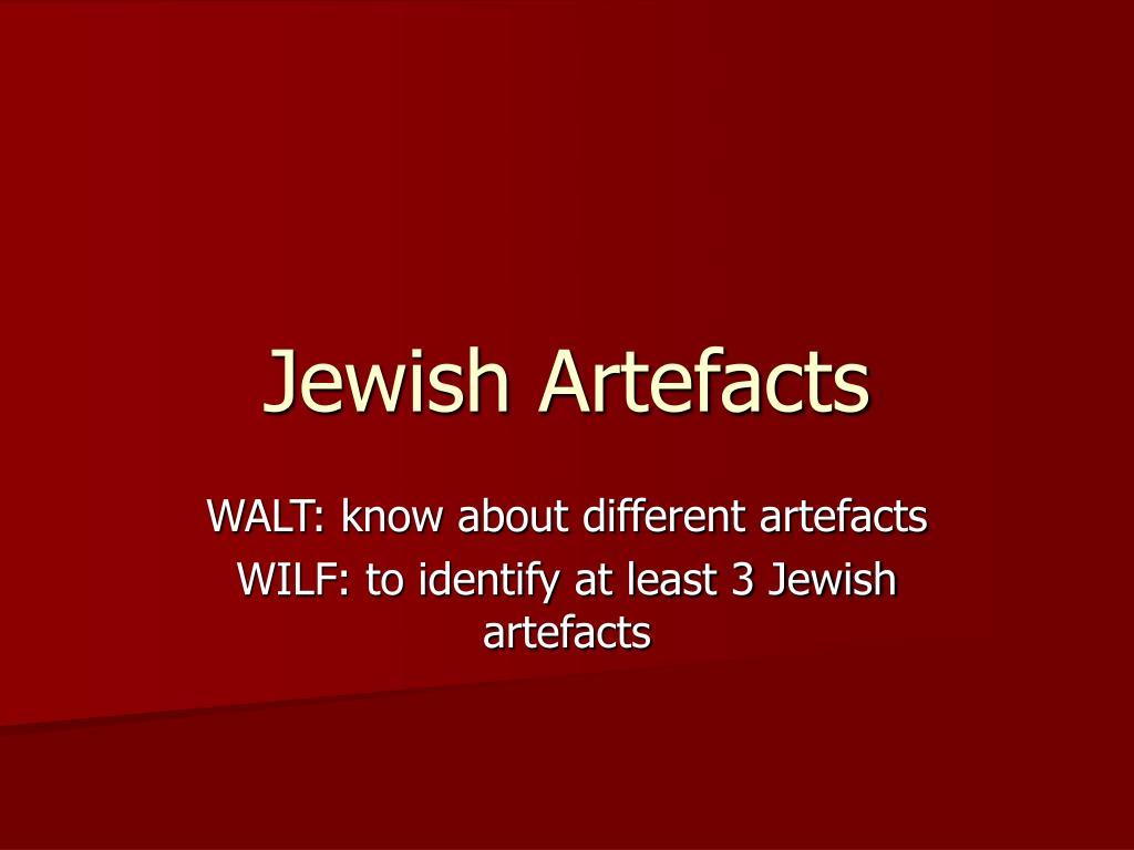 jewish artefacts l.