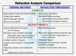 refraction analysis comparison