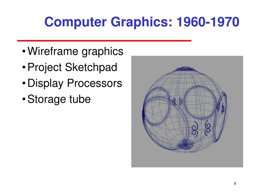 Computer Graphics: 1960-1970