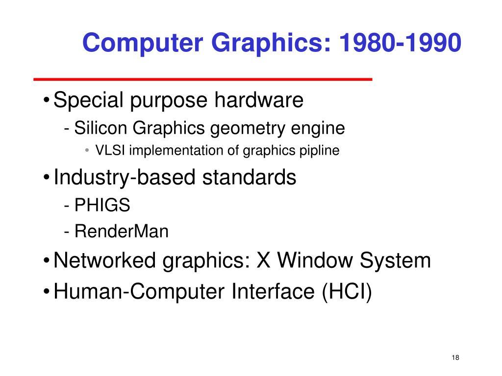 Computer Graphics: 1980-1990
