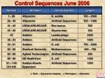 control sequences june 2006