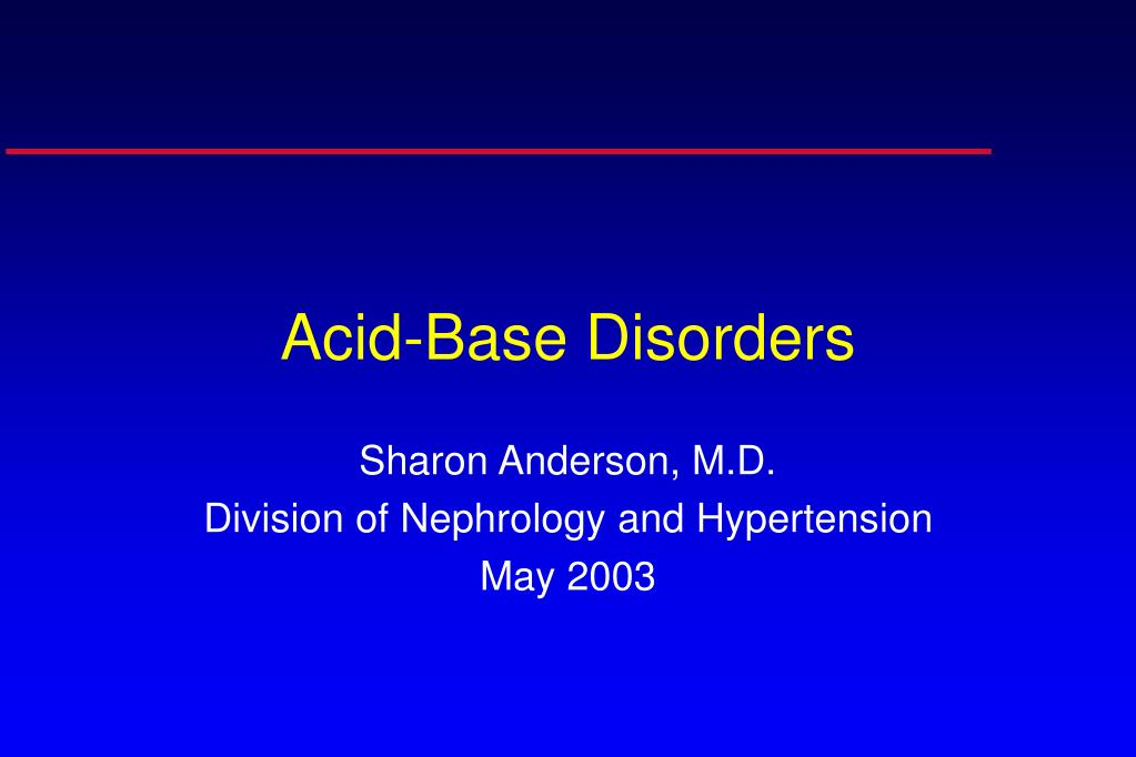 acid base disorders l.