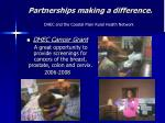 partnerships making a difference