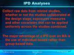 ipd analyses