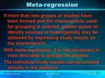 meta regression