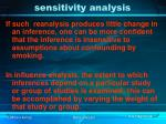 sensitivity analysis65