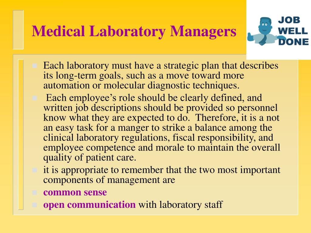 Medical Laboratory Managers