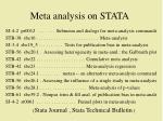 meta analysis on stata
