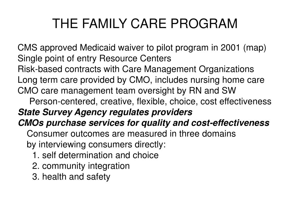 THE FAMILY CARE PROGRAM